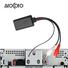 Universal Bluetooth AUX Receiver Module 2 RCA Cable Adapter Car Radio Stereo Wireless Audio Input Music Play for Truck Auto