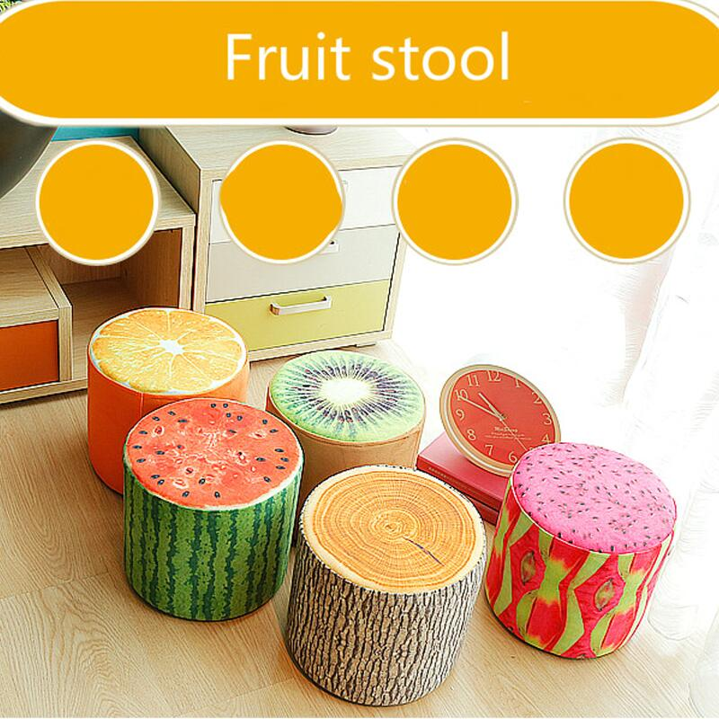 Promotion fine workmanship high quality fashion modernshoes stool fabric creative fruit stool small living room sofa footstool 17 styles shoe stool solid wood fabric creative children small chair sofa round stool small wooden bench 30 30 27cm 32 32 27cm