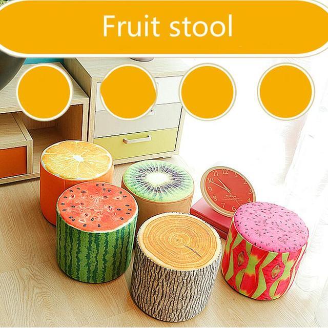Promotion fine workmanship high quality fashion modernshoes stool fabric creative fruit stool small living room sofa footstool