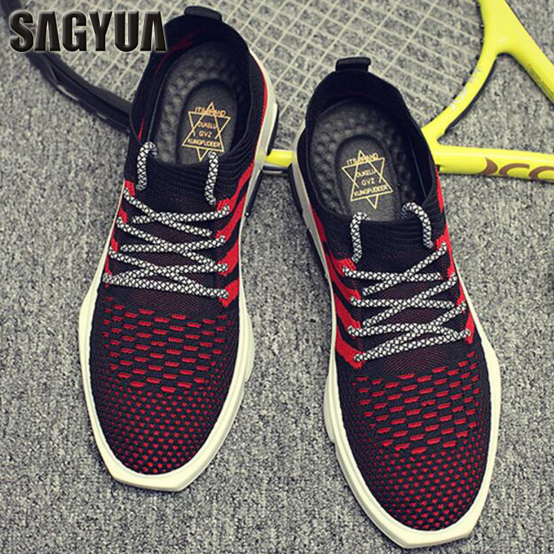 SAGYUA New Trendy Men Hombre Male Casual Fashion Summer Air Mesh Breathable Travels Walks Zapatos Chaussures Sapatos Shoes T347 sagyua hot fashion stitchwork rose spring students maiden women zapatos casual female sapatos flat shoes chaussures flattie t136