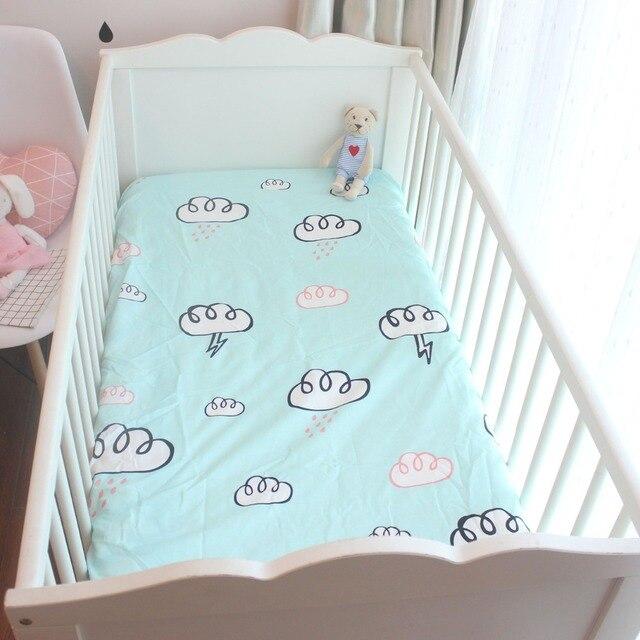 Matras Baby Bed.1 St Uitgerust Laken 100 Katoenen Baby Bed Matras Cover Aangepaste