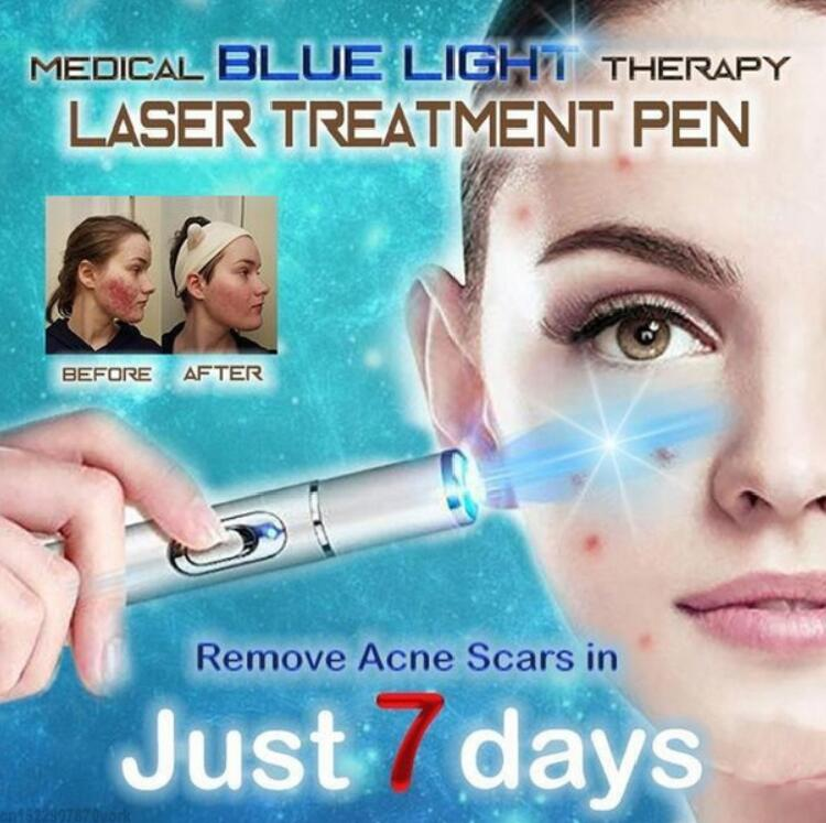 Acne Laser Pen Wrinkle Removal Machine Durable Scar Remover Blue Light Therapy Pen Massage Spider Vein Eraser Facial Care Tools