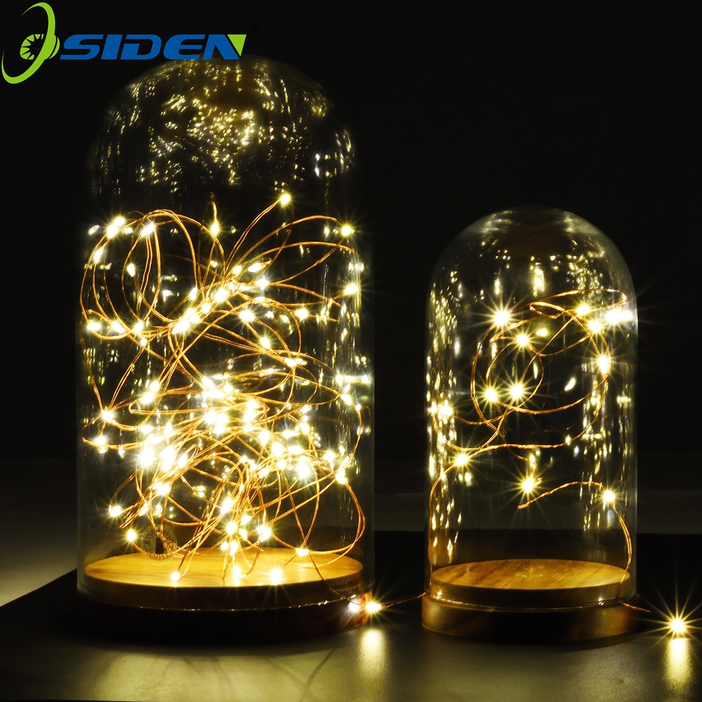 1-10m LED String Lights LED Batteri for Xmas Garland Party Bryllup Dekor Christmas Flasher Fairy Lights Utendørs vanntett