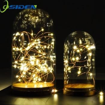 Tira de luces LED de 1-10 m, batería LED para guirnalda de Navidad, decoración para fiestas, bodas, luces navideñas parpadeantes, luces de hadas al aire libre, impermeables