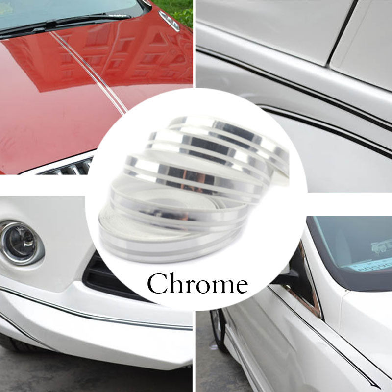 PIN STRIPE Tape Double TAPE Decal Vinyl Sticker CHROME 8m rim tape wheel stripe decal trim sticker