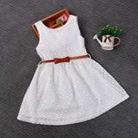 2 8 Years New Summer Lace Vest Girls Dress Baby Girl Princess Dress Chlidren Clothes Kids