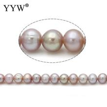 Cultured Baroque Freshwater Pearl Beads purple Grade AA 6mm Approx 0.8mm Sold Per 15 Inch Strand