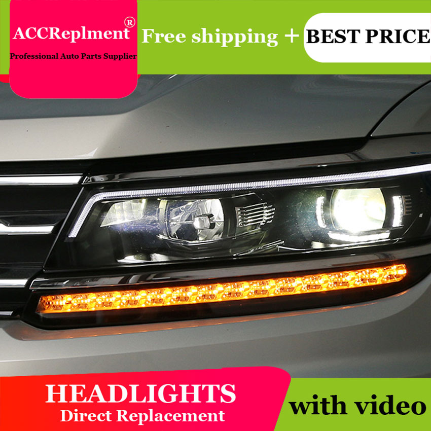 AUTO PRO 2018 For vw tiguan headlights car styling Q5 bi xenon lens LED 2018 High brightness led xenon H7 led parking auto pro for honda fit headlights 2014 2017 models car styling led car styling xenon lens car light led bar h7 led parking