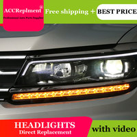AUTO PRO 2018 For vw tiguan headlights car styling Q5 bi xenon lens LED 2018 High brightness led xenon H7 led parking