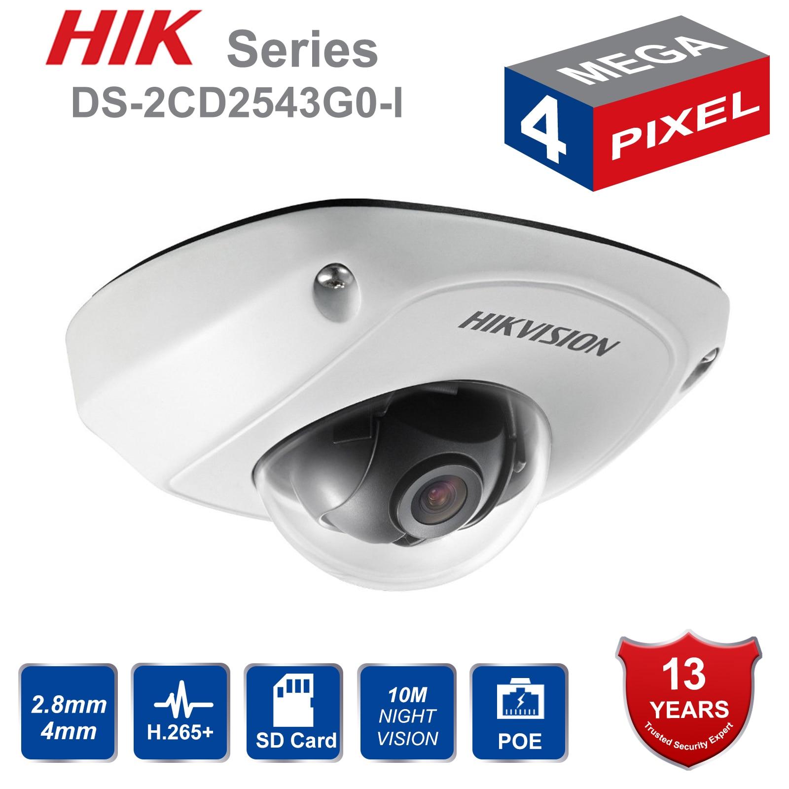 HIK Original DS 2CD2543G0 I 4MP POE ir mini dome ip camera built in Mic replace