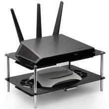 ใหม่ router cooling rack USB 5 โวลต์ 120 มิลลิเมตรความเร็วสูงเสียงต่ำการควบคุมความเร็วพัดลมระบายความร้อนบรอดแบนด์แมว TV set   top box