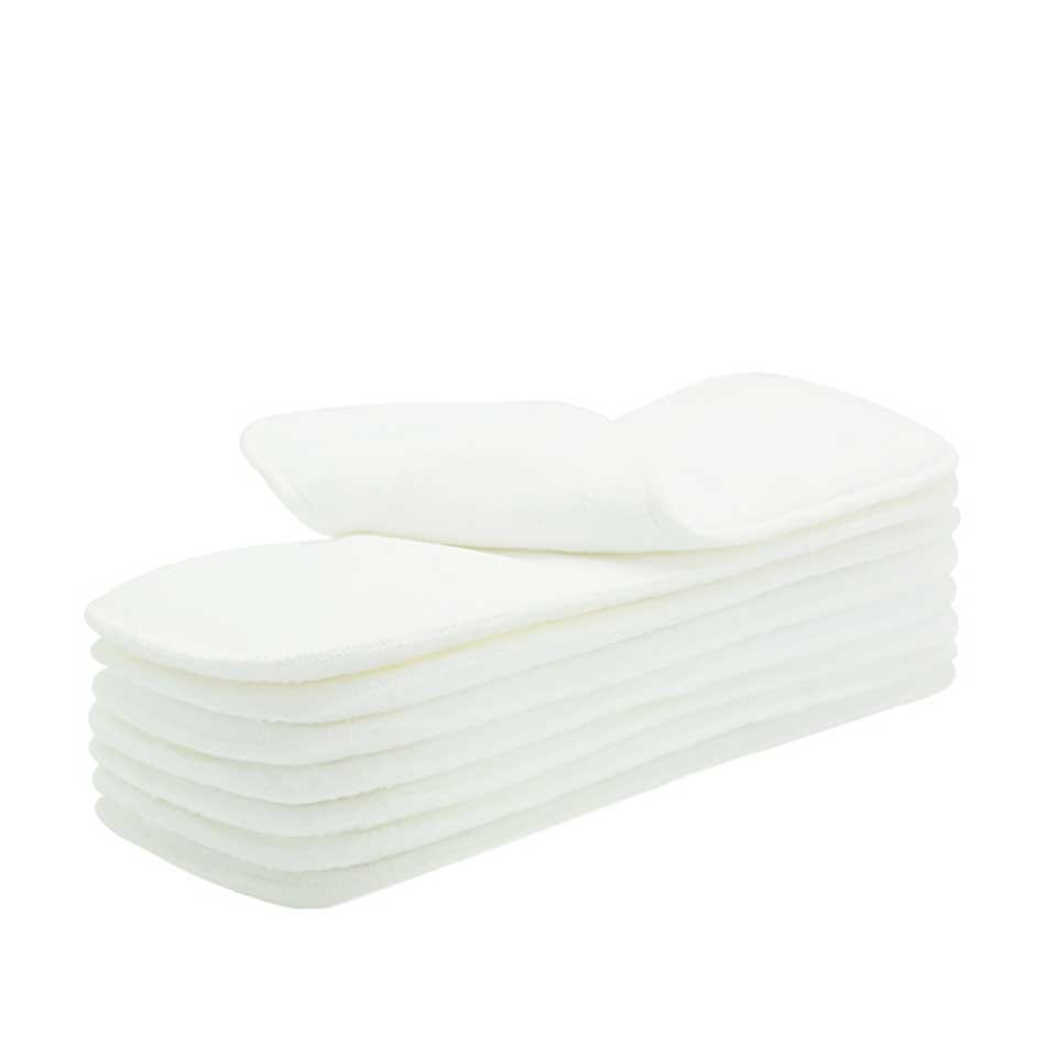 HappyFlute Nappy Inserts 3 Layers Microfiber Diaper Inserts 35x13.5cm 10 Pcs Free Shipping