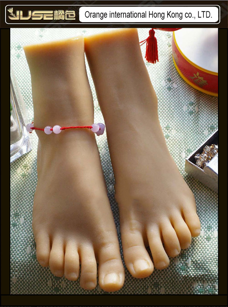 Top Quality Drop Shipping font b Sex b font Toy Solid Silicone Female Feet Feet Fetish