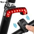 Задний фонарь для велосипеда с Гудок с дистанционным управлением  светодиодный светильник для езды на велосипеде  5 режимов  заряжаемый от ...