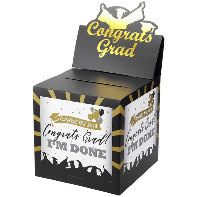 Bestoyard Graduation Card Box Holder Paper Congrats Grad Card Case