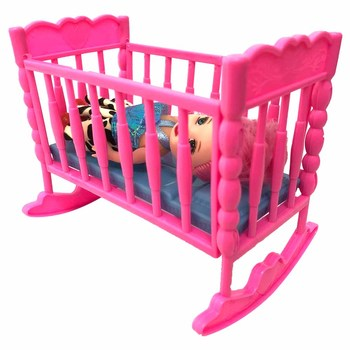 NK Newest Doll Accessories Baby Bed Super Cute Bed For Small Kelly Doll For Barbie