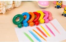 Creative 12 Colors/set Crayon Colorful Wax Crayons Cartoon Egg Shape Graffiti Pen Painting Gift for Kids Drawing