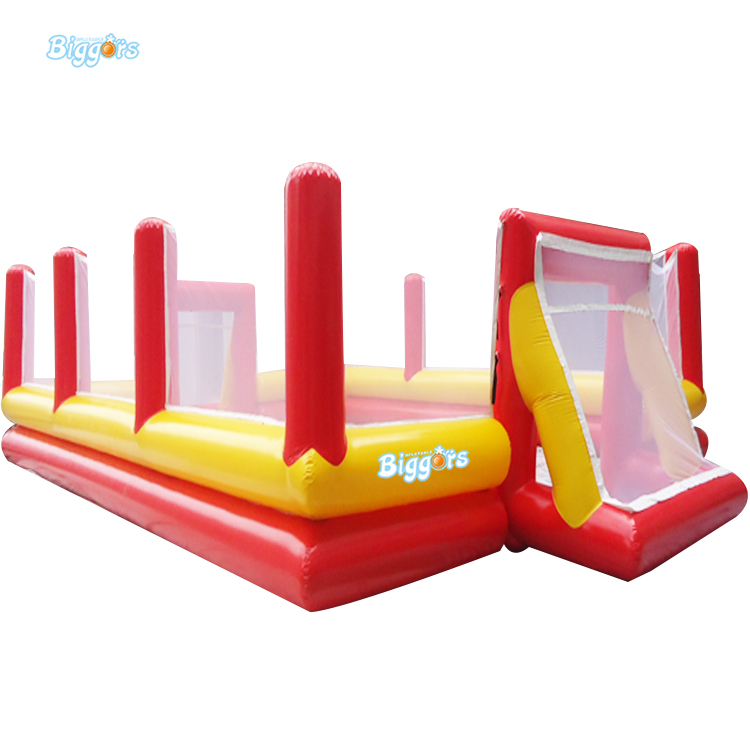 Sea Shipping Giant Inflatable Football Fields Inflatable Football Soccer Game For Sale sea shipping giant commercial inflatable kids soccer court football field with blowers
