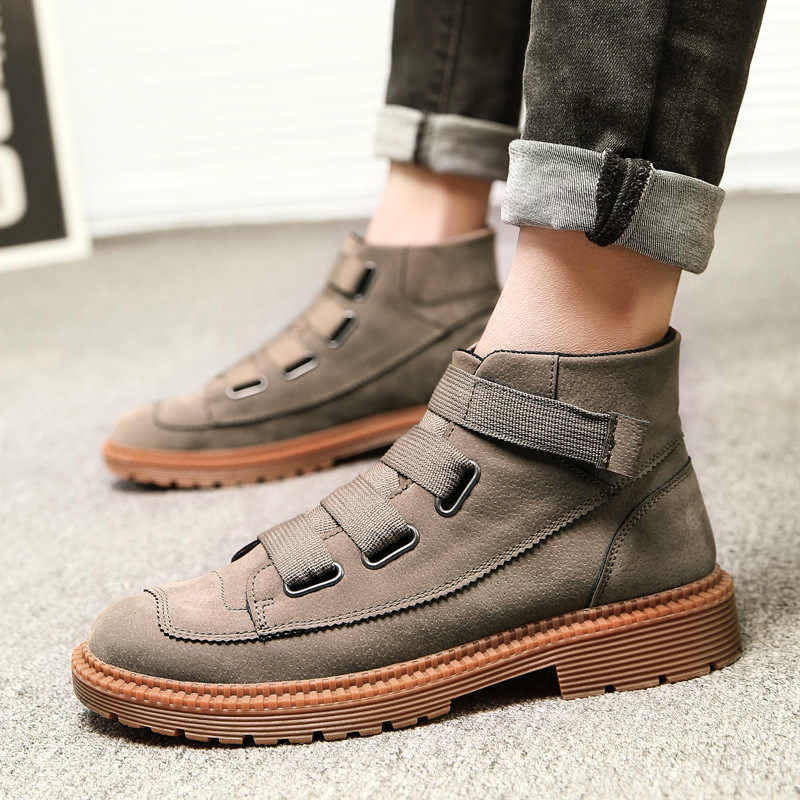 Kış kar botları erkek İngiltere kısa çizmeler Haisum botları takım askeri botlar erkek ayakkabıları H-S8020