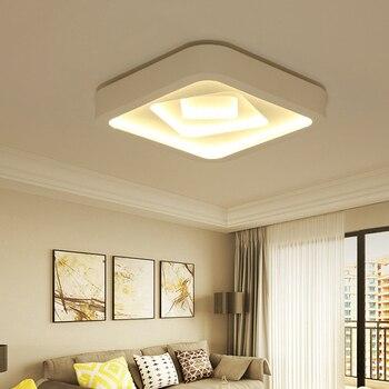 Kreative quadrat führte decken lampe luxus schlafzimmer wohnzimmer decke  leuchte lamparas led de techo moderna