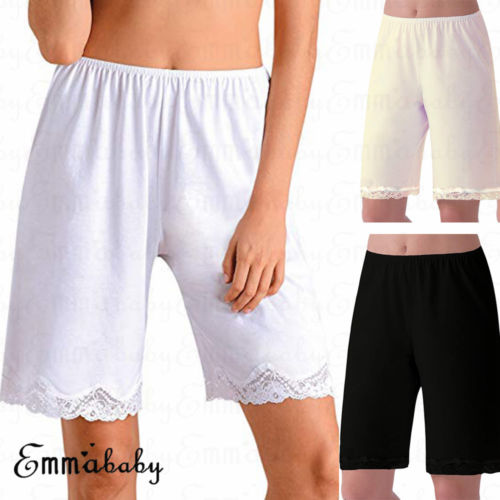 Women Short Pajama Soft Plus Size Lace Lounge Pants Pyjama -2043