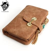 Mfs 2016 New Fashion Women Wallets Drawstring Nubuck Leather Zipper Wallet Women S Short Design Purse