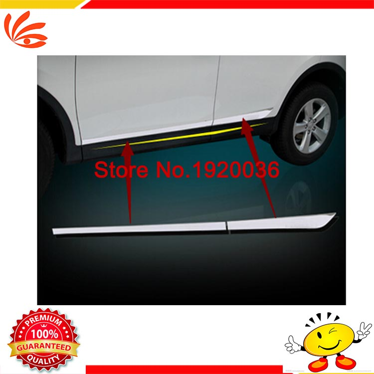Stainless Steel Body Side Door Moulding Cover Strip Trim For Audi Q5 2013-2017