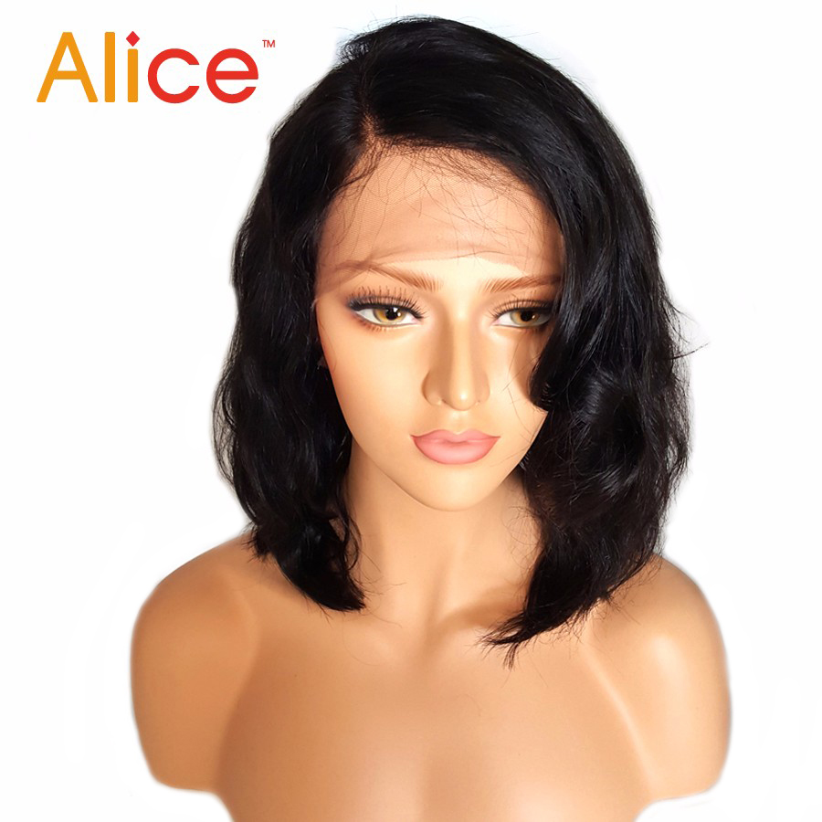 Alice Bleached Knots Full Lace Wigs Human Hair With Baby Hair Wavy Short Full Lace Human Hair Wigs For Black Women All Hand Tied (1)