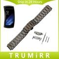 Venda de reloj de acero inoxidable de liberación rápida con adaptadores para samsung gear fit 2 sm-r360 butterfly correa de hebilla de pulsera pulsera de la correa