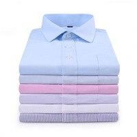 Nieuwe Collectie Mens Turn-Down Kraag Business Formele Shirts Mannen Lange Mouwen Slim Fit Casual Shirt Heren Effen Kleur jurk Shirts