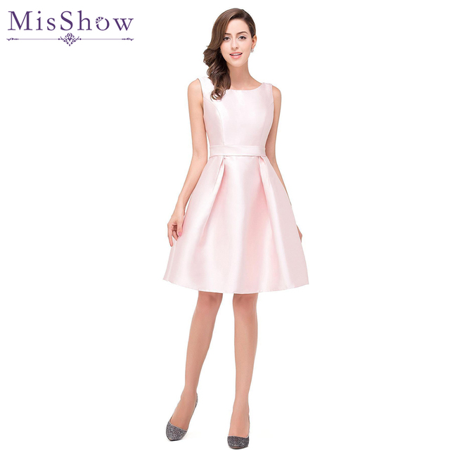 US size 2 4 14 16 short prom dresses Pink Sweet A Line Short Knee ...
