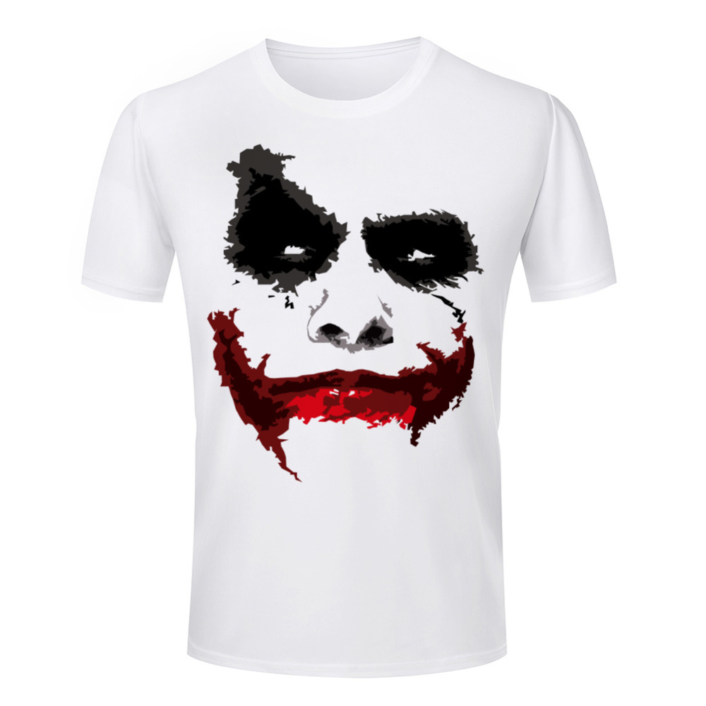 batman the dark knight joker 3d print t shirt men crew. Black Bedroom Furniture Sets. Home Design Ideas