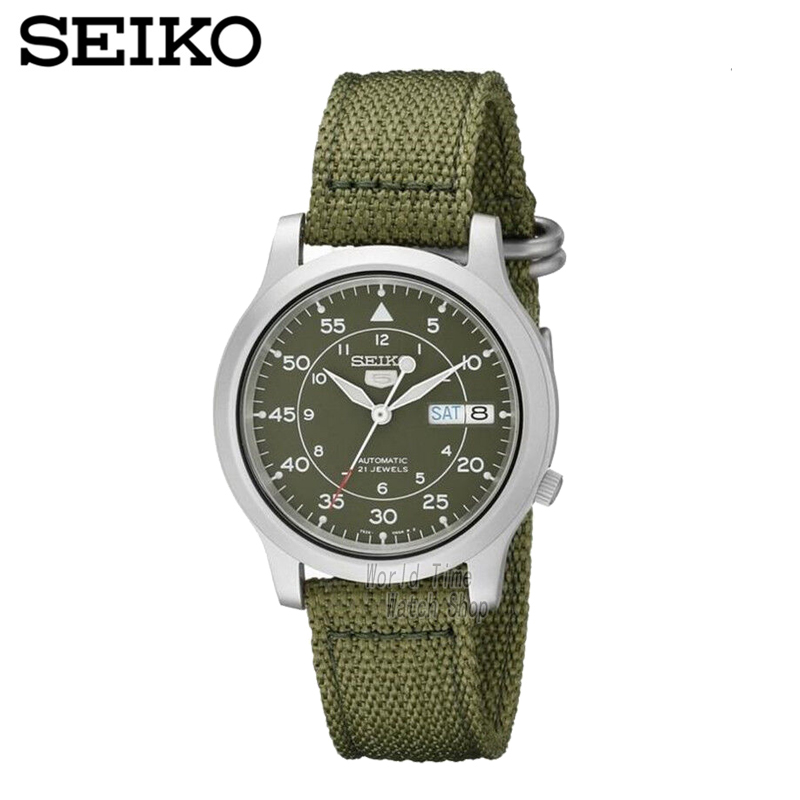 SEIKO Watch No 5 Automatic Fashion simple mechanical watch SNK379K1 SNK807K2 SNK809K1 SNK809K2 SNK385K1 SNK803K2 SNK805K2