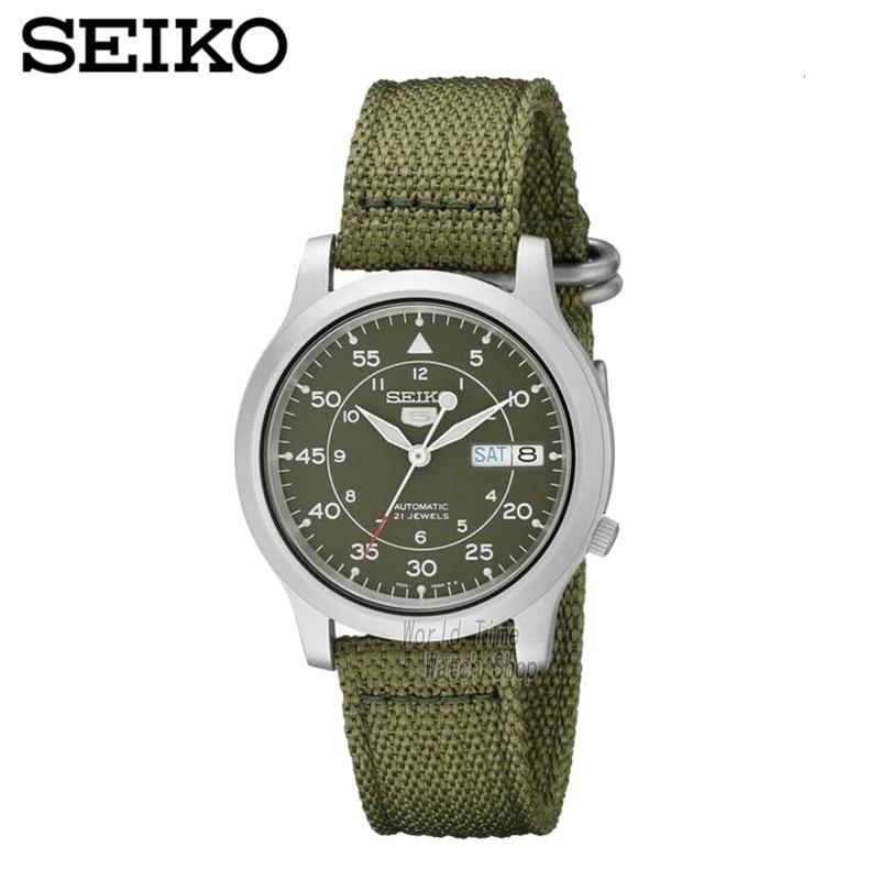 SEIKO Watch No. 5 Automatic Fashion simple mechanical watch SNKA01K1 SNK379K1 SNK803K2 SNK805K2 часы seiko snk805k2