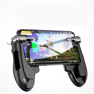 Image 4 - PUBG المحمول الزناد/تحكم النار زر تهدف مفتاح المحمول ألعاب قبضة مقبض L1R1 مطلق النار المقود لباد اللوحي و الهاتف 2in1