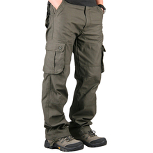 Plus Size 30-40 Cargo Pants Men Casual Multi Pocket Military Overall Men Pants Outdoors Long Trousers Mens Clothing