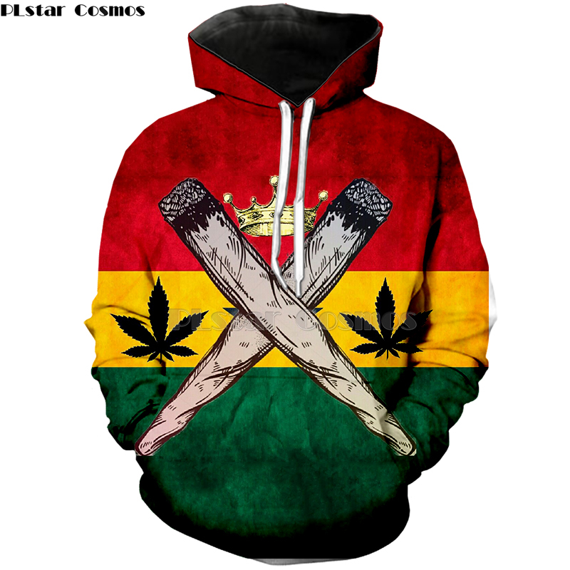 PLstar Cosmos Brand Print 3d Clothing Bob Marley Fashion Hoodies Harajuku Style Sweatshirt Yellow Weed  Mens Womens Hoodies-3