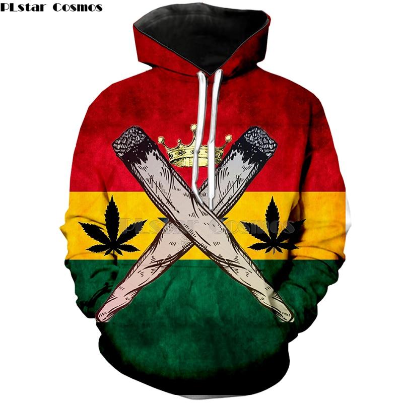 PLstar Cosmos Brand Print 3d Clothing Bob Marley Fashion Hoodies Harajuku Style Sweatshirt Yellow Weed  Mens Womens Hoodies-3