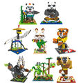 Micro building blocks figures  Kung Fu Panda OPortugal Panda do Kung Fu DIY building bricks Master bao  Shifu juguetes toys