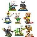 Micro blocos de construção figuras kung fu panda oportugal panda do kung fu mestre shifu bao diy tijolos de construção brinquedos juguetes