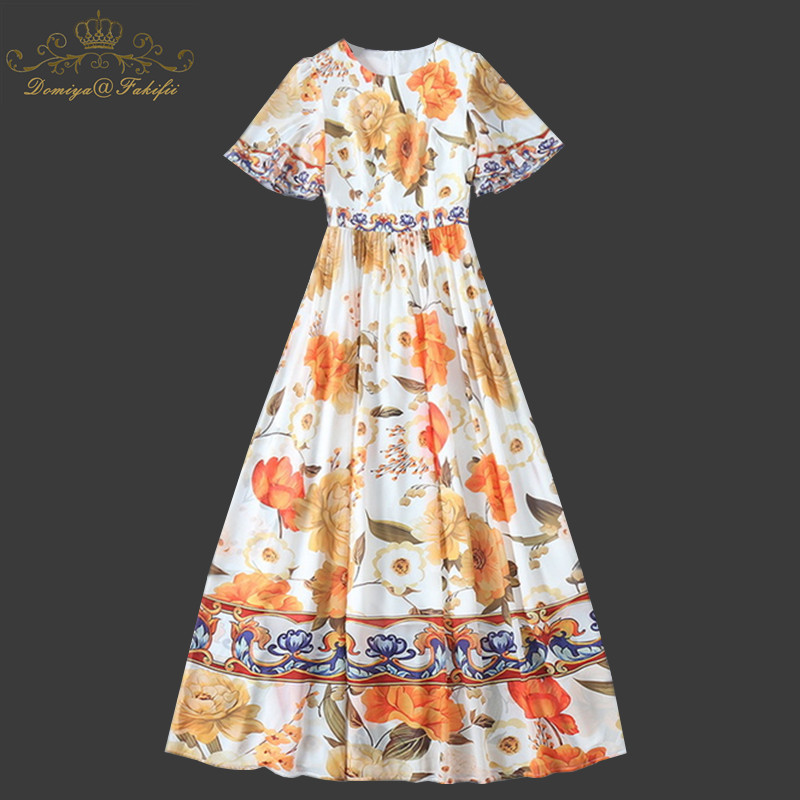 Family Clothes Women Clothing 2018 Brand Spring Summer Fashion Flower Print Women Dress Ladies Casual Dresses Clothing Plus Size