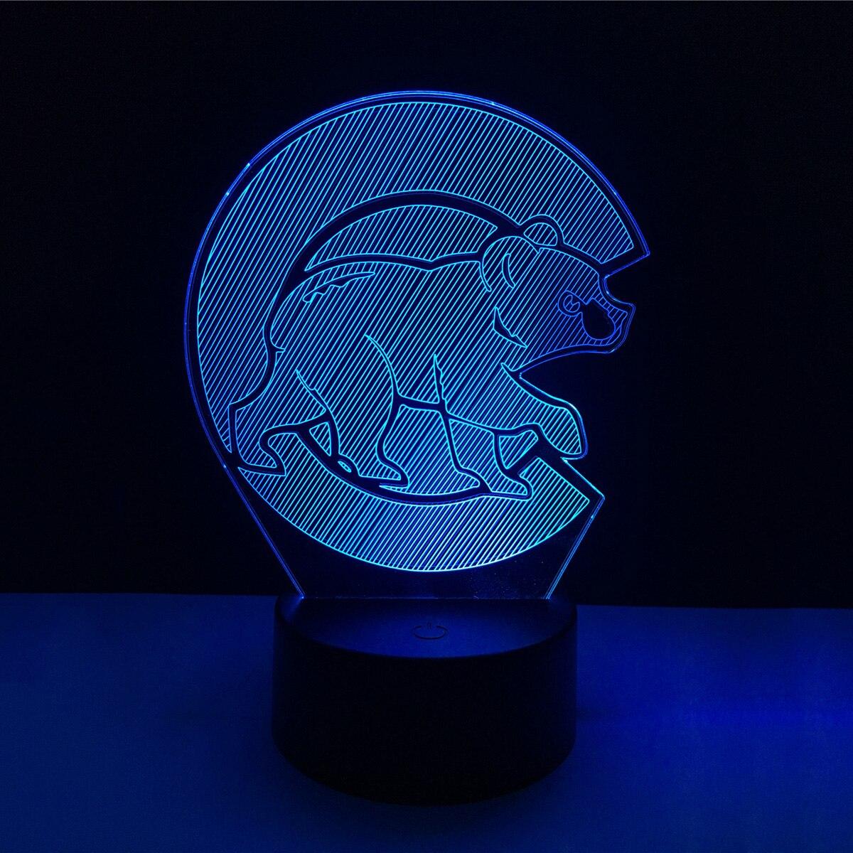 3D Cartoon Panda Acrylic LED Lamp 3D Baby Night Light bedroom Sleep Lighting Cute Gift For Children Night Light Xmas New Years