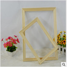 2017 New Reliable Quality Porta Retrato Moldura Wood Photo Frames Home Decor For Hand Oil Painting Or Pringted Picture(China)