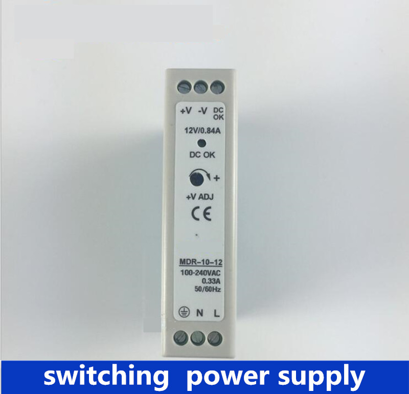 MDR-10 5V 12V 24V, 10W 5V 2A Din Rail power supply ac-dc driver AC/DC wide constant voltage LED strip 110V 220V кнопочный выключатель с индикацией tdm вки 47 желтый led 2но 1нз ac dc sq0214 0004