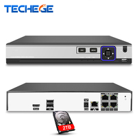 4Channel PoE NVR Max 4K 4CH 5MP 4CH 4MP Surveillance CCTV NVR IEE802 3af 48V PoE