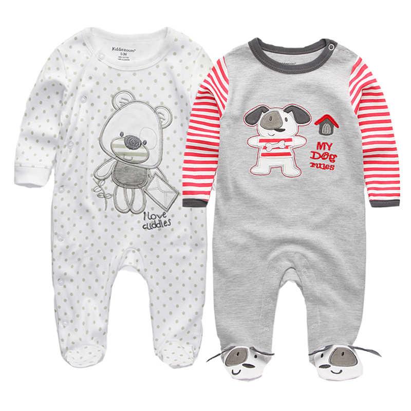 2020 아기 옷 전체 슬리브 면화 infantis 아기 의류 romper 만화 의상 ropa bebe 3 6 9 12 M 신생아 소년 소녀 옷