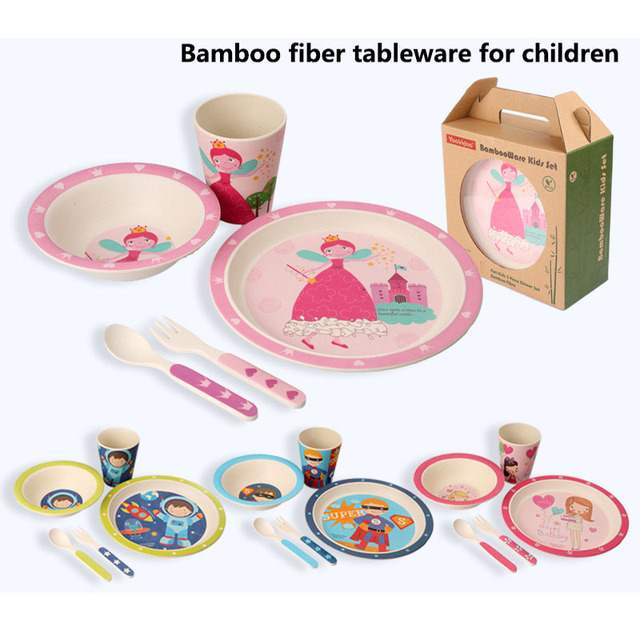 Childrenu0027s Day Gift 5pcs/lot 100% bamboo fiber tableware set lovely animal dinnerware set  sc 1 st  AliExpress.com & Childrenu0027s Day Gift 5pcs/lot 100% bamboo fiber tableware set lovely ...