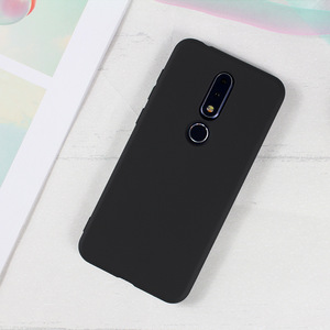 Solid Black Case For Nokia X7 X71 Nokia 1 2 3 5 6 7 8 9 2.1 3.1 5.1 6.1 7.1 Plus X3 X5 X6 X7 X71 Silicone Soft back Cover Case(China)