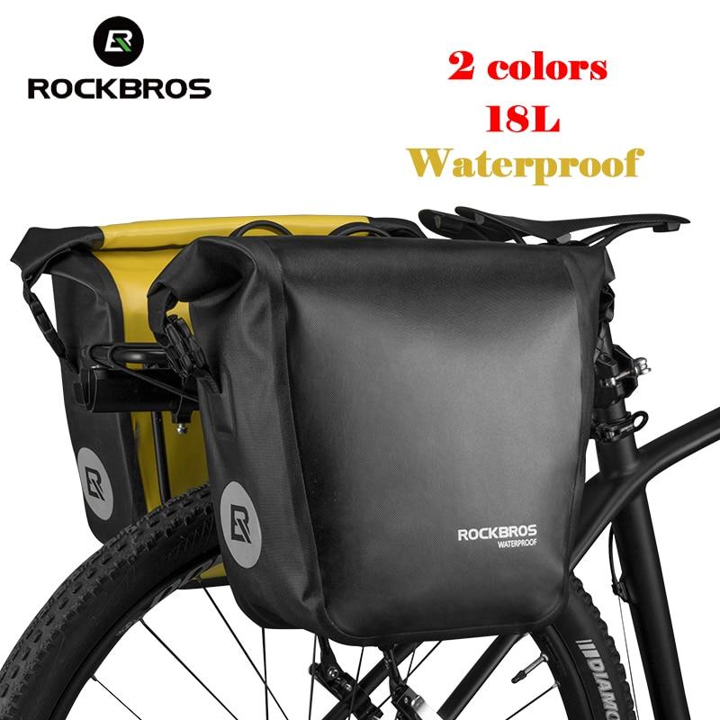 ROCKBROS sac à main de cyclisme entièrement étanche sac à bandoulière grande capacité 18L Durable multi-usage vélo vélo accessoires de plein air