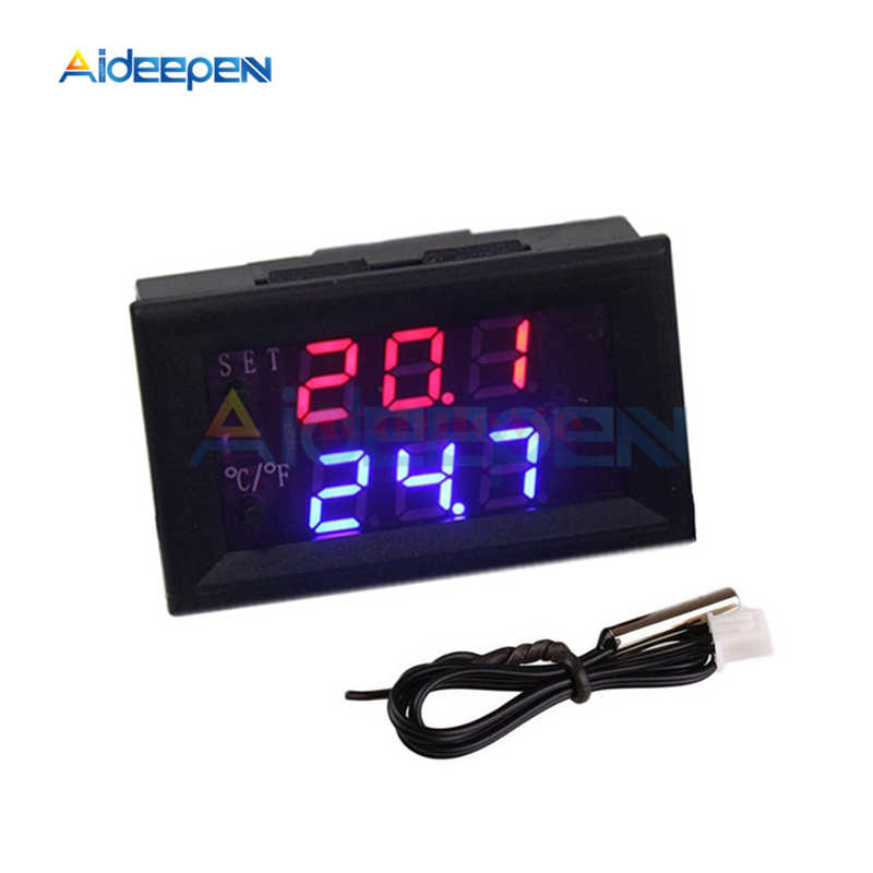 W1209WK DC 12V LED Digital Thermostat Temperature Control NTC Sensor W1209 WK Thermometer Thermo Controller Switch Module